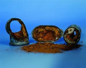 Tubería oxidada por inducción