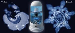 El ACALA-Quell ayuda a estructurar el agua gracias al campo magnético que crea el dispensador.